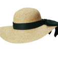 Organic Raffia Sun Hat with Large Bow - Natural
