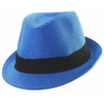 Paper Braid Fashion Fedora Royal