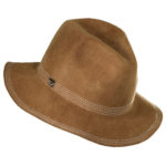 Callanan Wool Felt Safari hat with Top Stitch Trim Tan