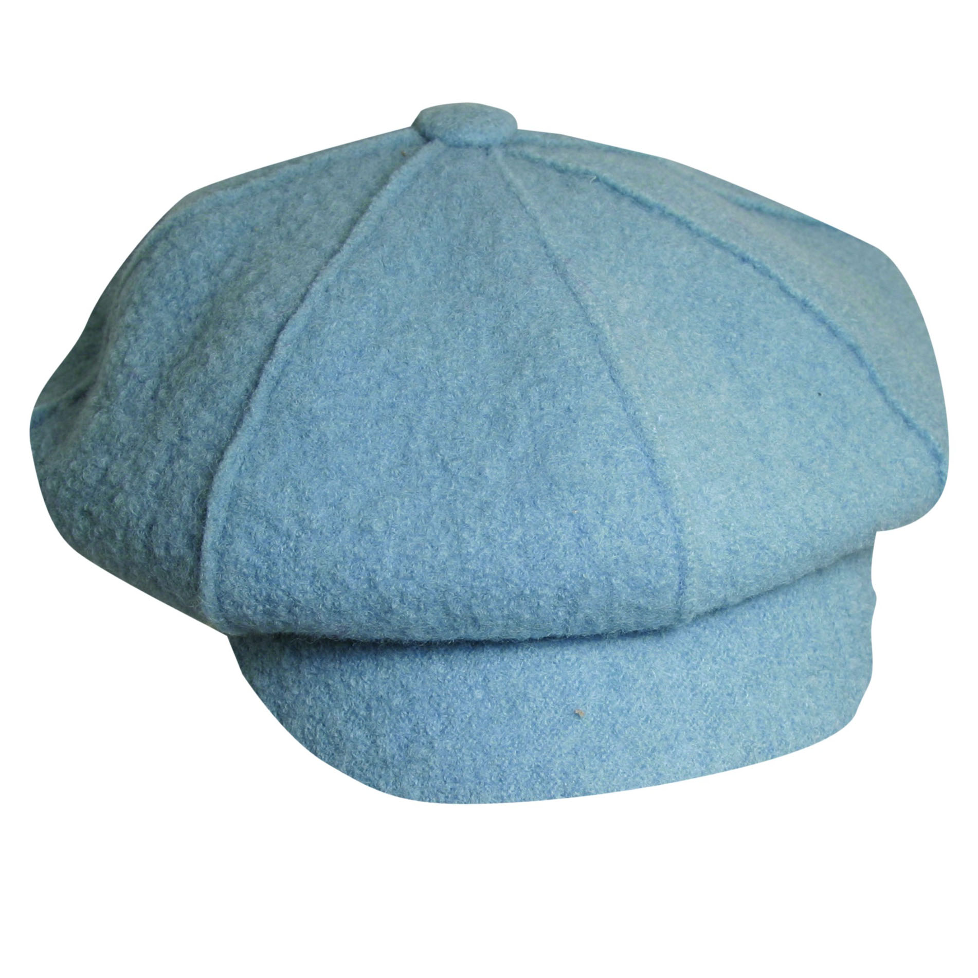 Boiled Wool Newsboy Cap Light Blue 009cc4a0666