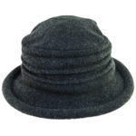 Boiled Wool Soft Cloche Hat Charcoal
