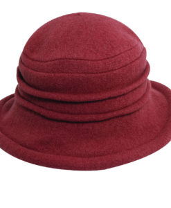 Boiled Wool Soft Cloche Hat Rust