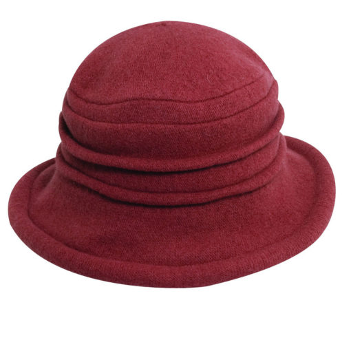 Boiled Wool Soft Cloche Hat Rust