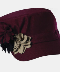 Fashion Cadet with Rosettes Burgandy