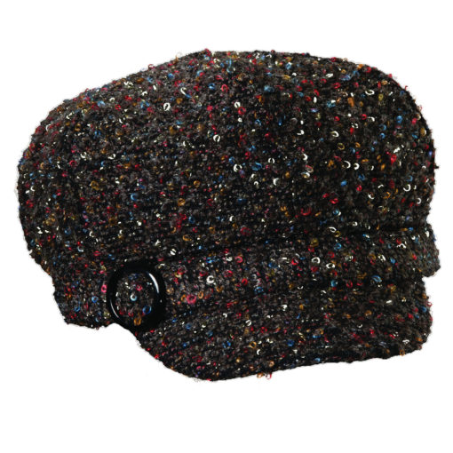 Fashion Cloth Jockey Hat Brown