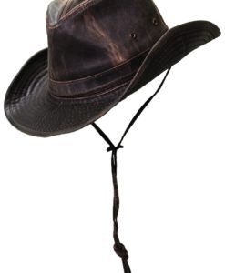 Weathered Cotton Outback Hat with Shapeable Brim