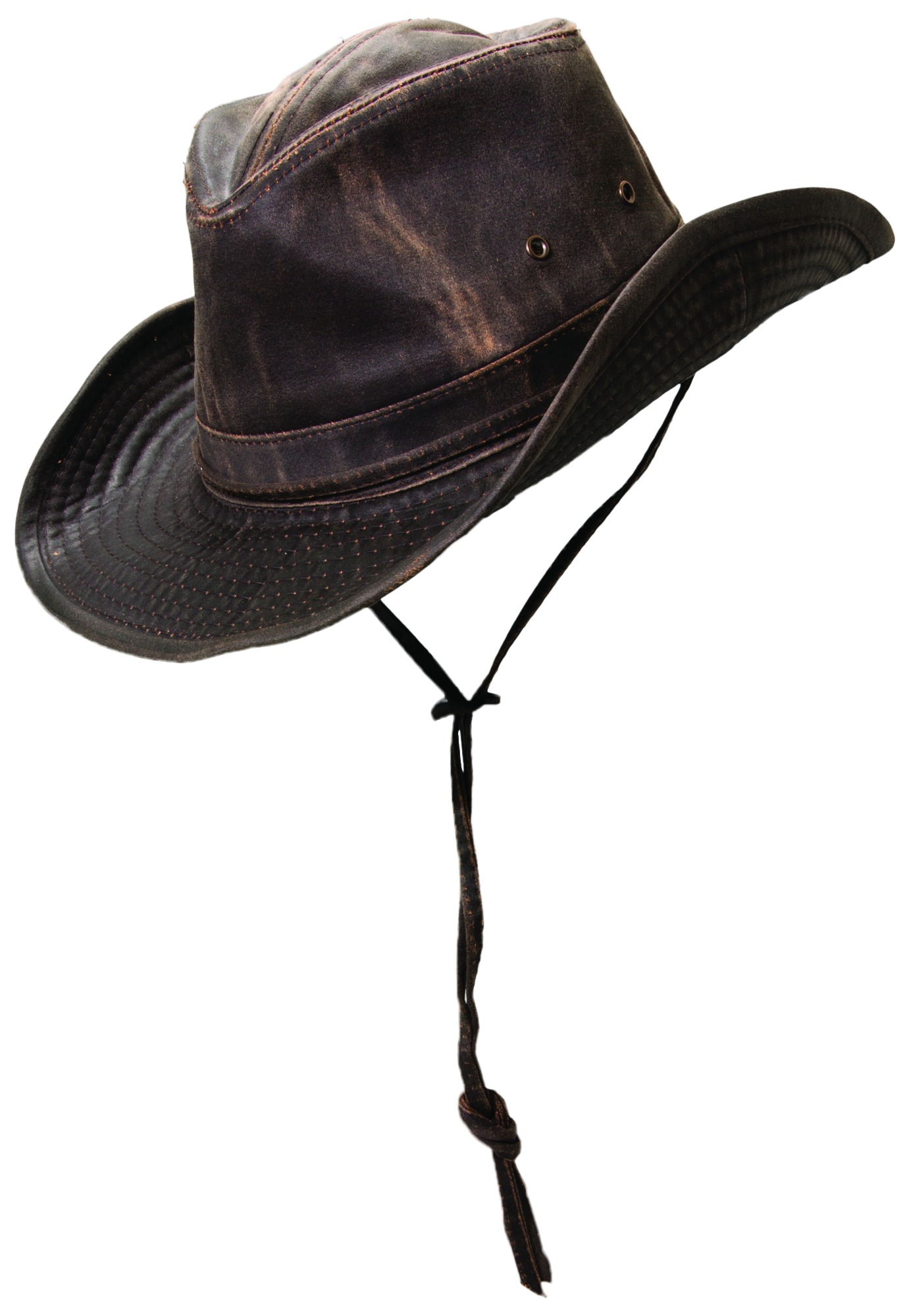 da0c35762e6419 Weathered Cotton Outback Hat with Eyelets and Strap | Explorer Hats