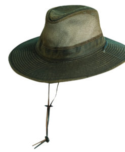 Weathered Cotton Safari Hat with Chin Cord