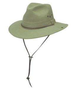 Khaki Brushed Twill Aussie Hat