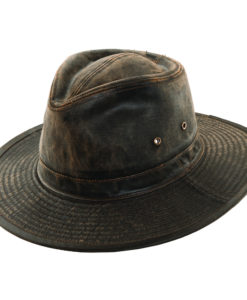 Weathered Cotton Outback Hat with Eyelets