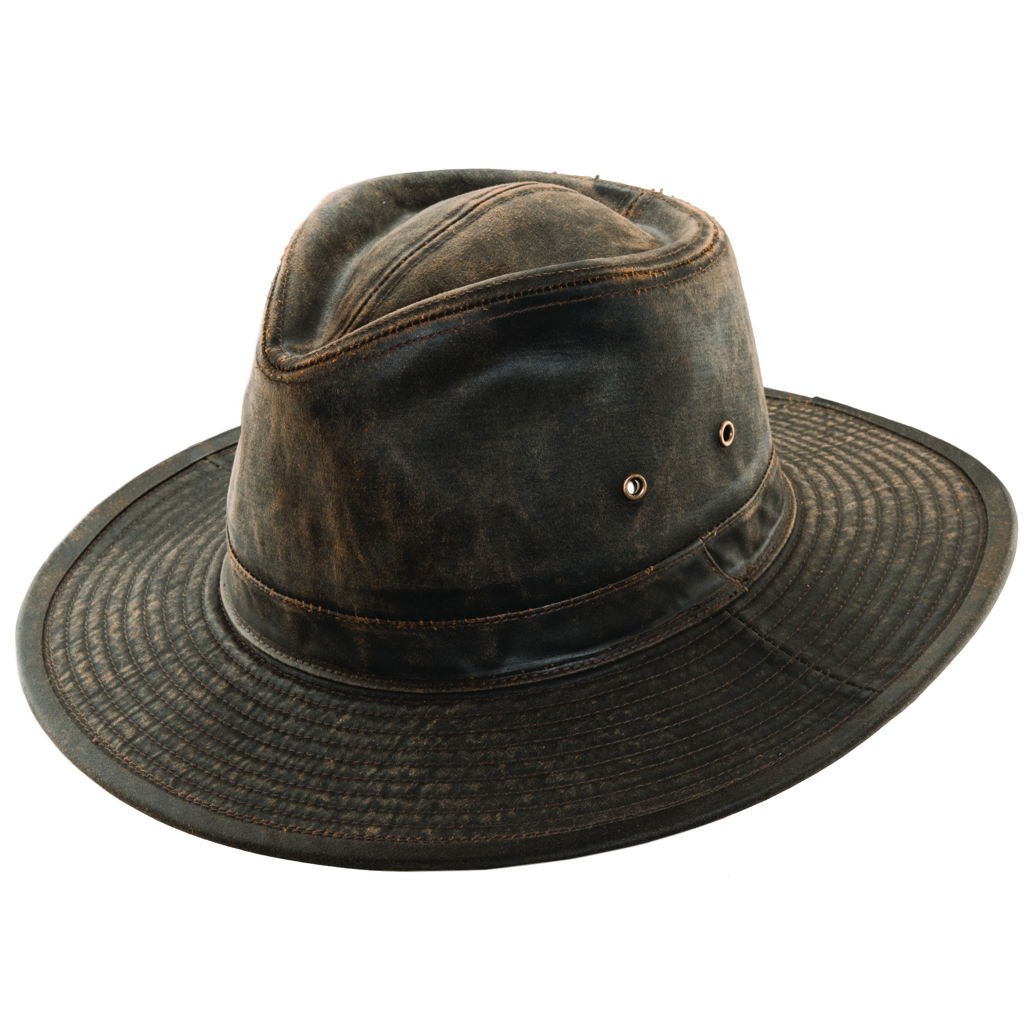 bc4ae1cecbb Weathered Cotton Outback Hat with Eyelets