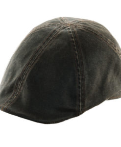 Weathered Cotton Duckbill Cap Brown