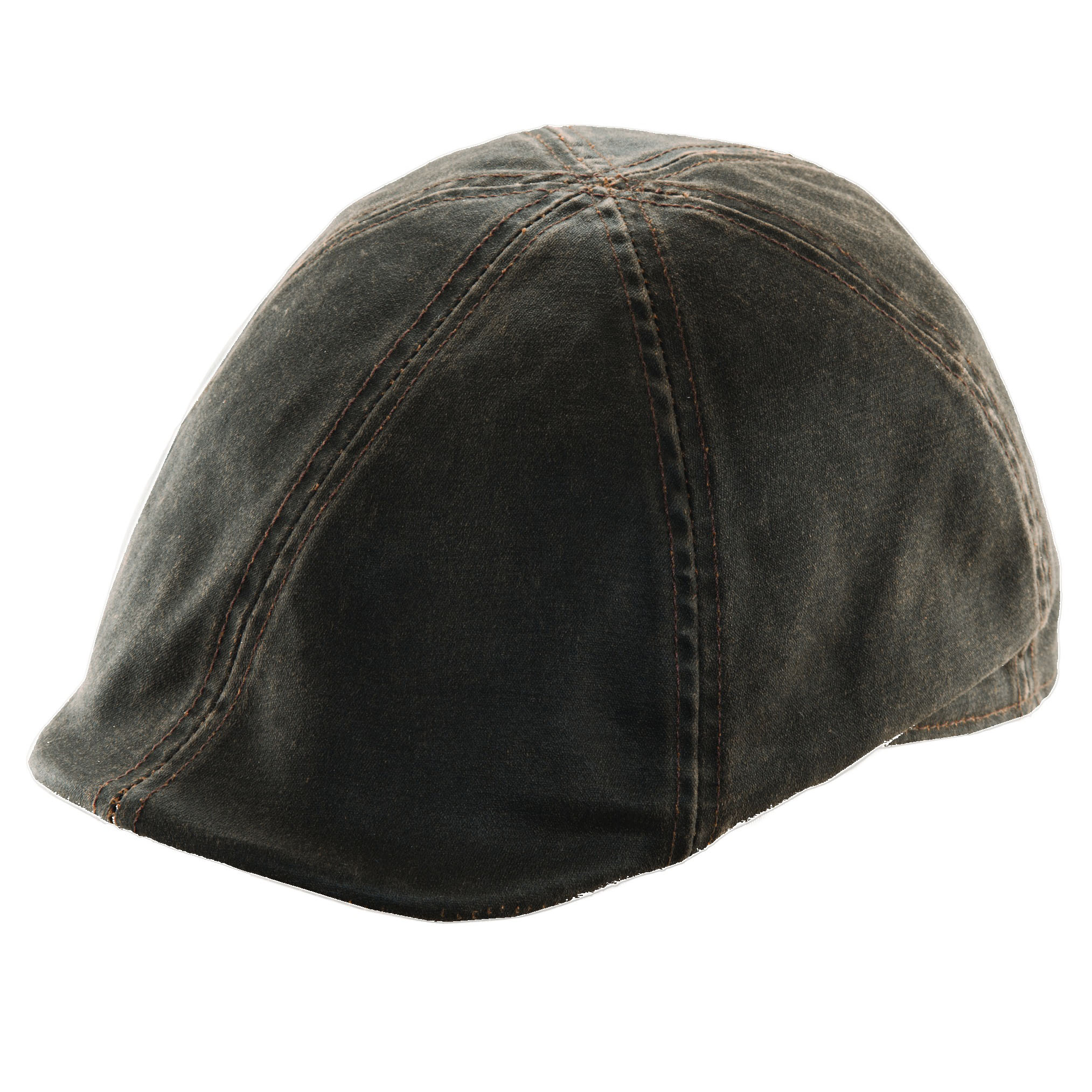 Weathered Cotton Duckbill Cap Brown f153fc2dd3f