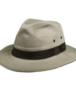 Garment Washed Twill Khaki Safari Hat