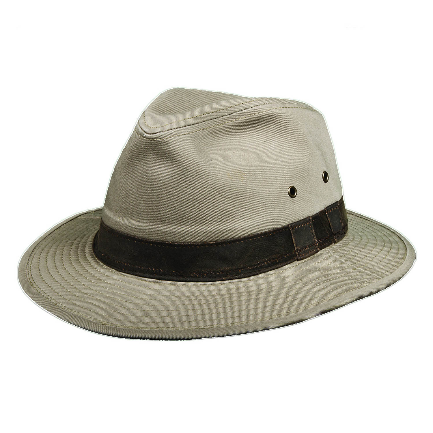 Garment Washed Twill Khaki Safari Hat