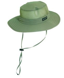 dcc93efcecae0 Supplex Nylon Boonie Hat with Mesh Sidewall Fossil