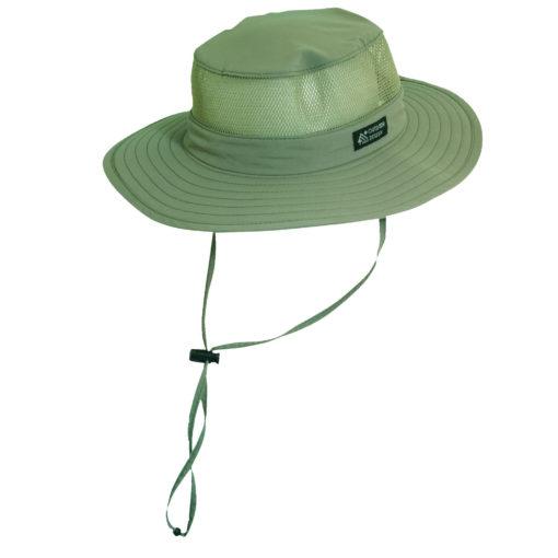 Supplex Nylon Boonie Hat with Mesh Sidewall Fossil