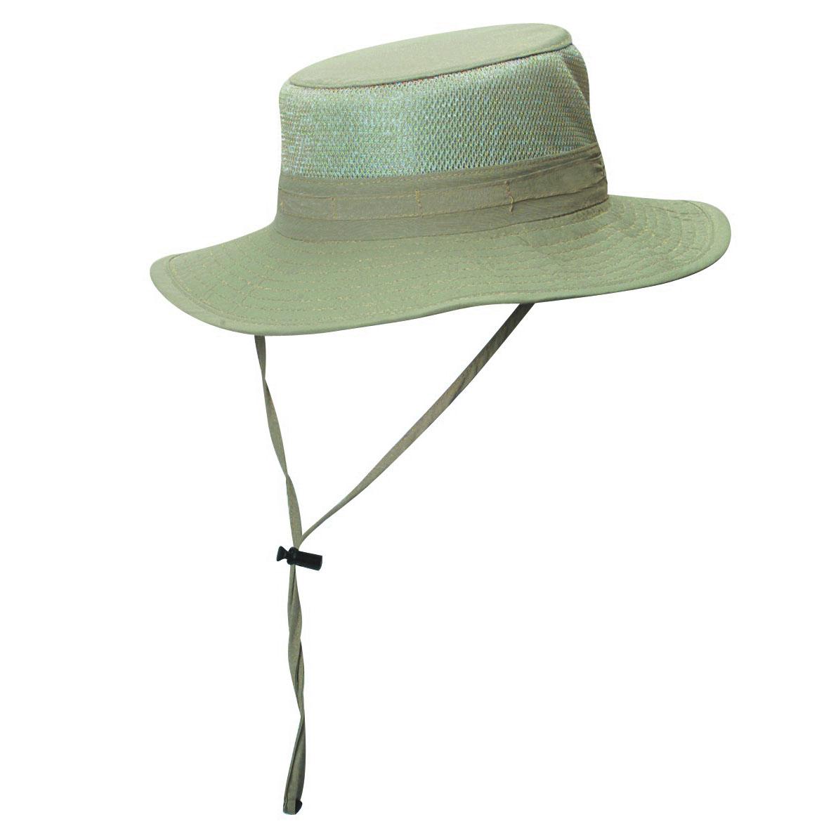 eea459e8db80d Supplex Nylon Boonie Hat with Mesh Sidewall Khaki
