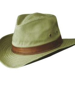 Khaki Garment Washed Twill Outback Hat