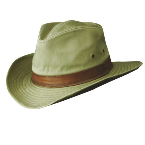 Khaki Garment Washed Twill Outback Hat