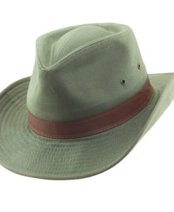 Olive Garment Washed Twill Outback Hat
