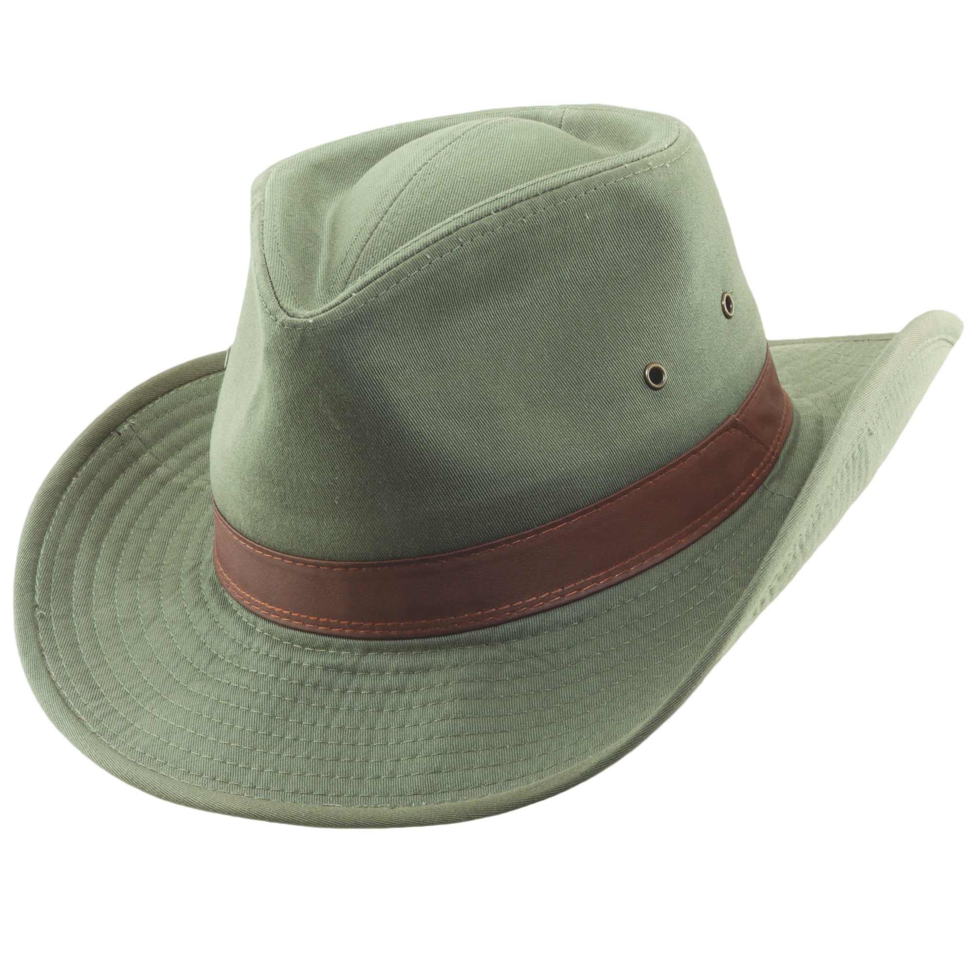 Olive Garment Washed Twill Outback Hat 02e0cdb62a8