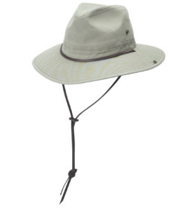 Khaki Garment Washed Twill Safari Hat