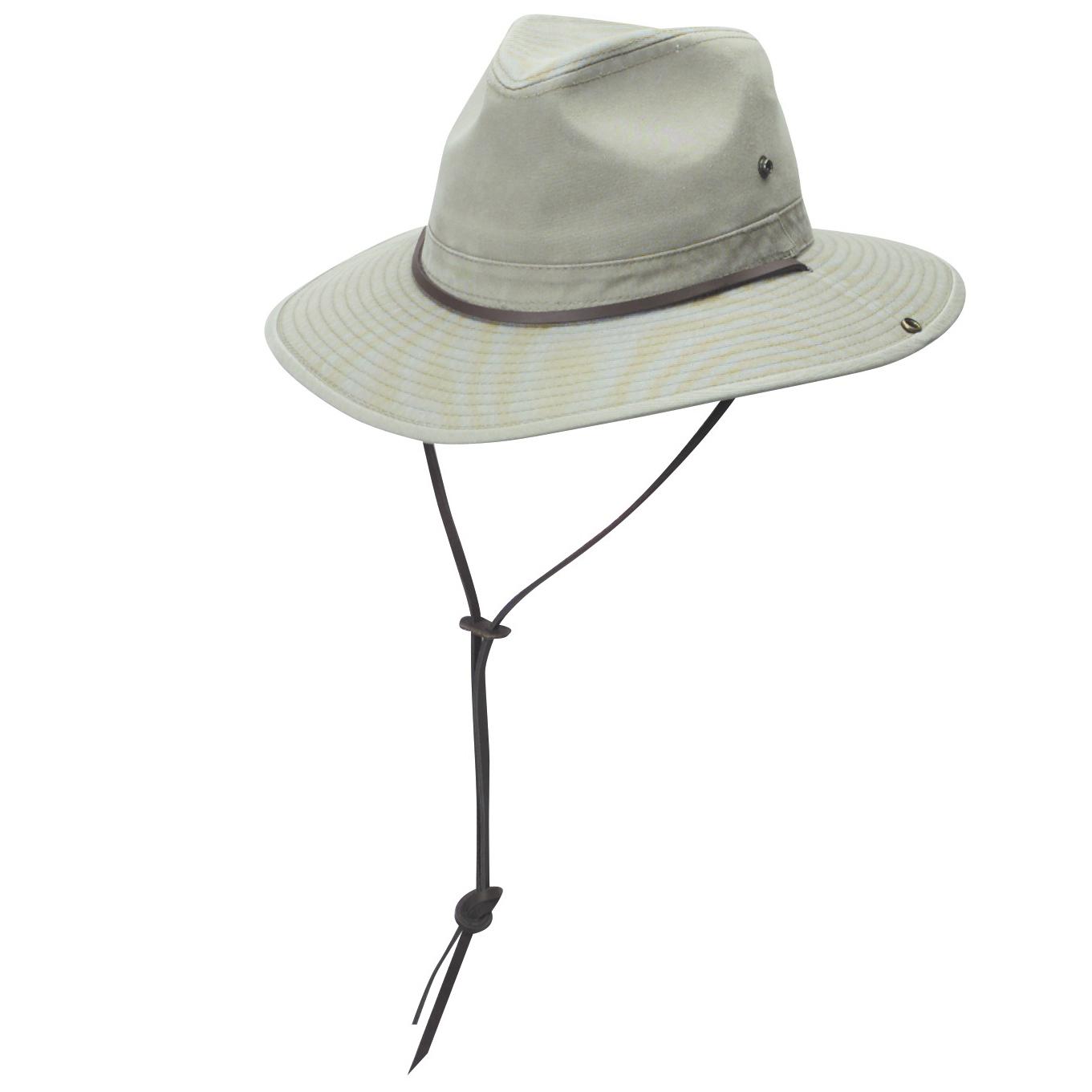 8304f7806417a8 Garment Washed Twill Safari Hat   Explorer Hats
