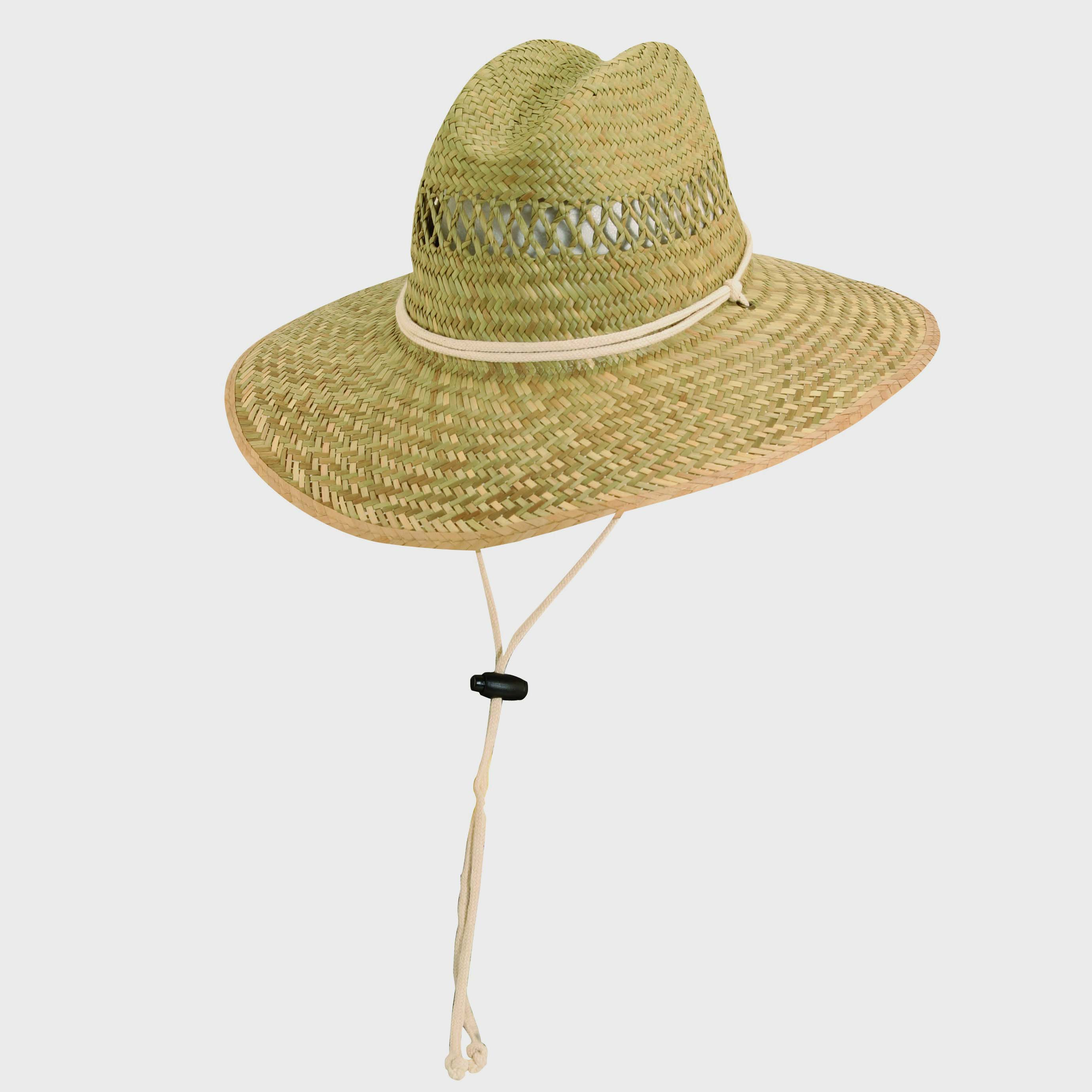 9b289d314cca7 Rush Straw Lifeguard Hat with Chin Cord Natural