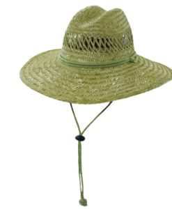 Rush Straw Lifeguard Hat with Chin Cord Olive