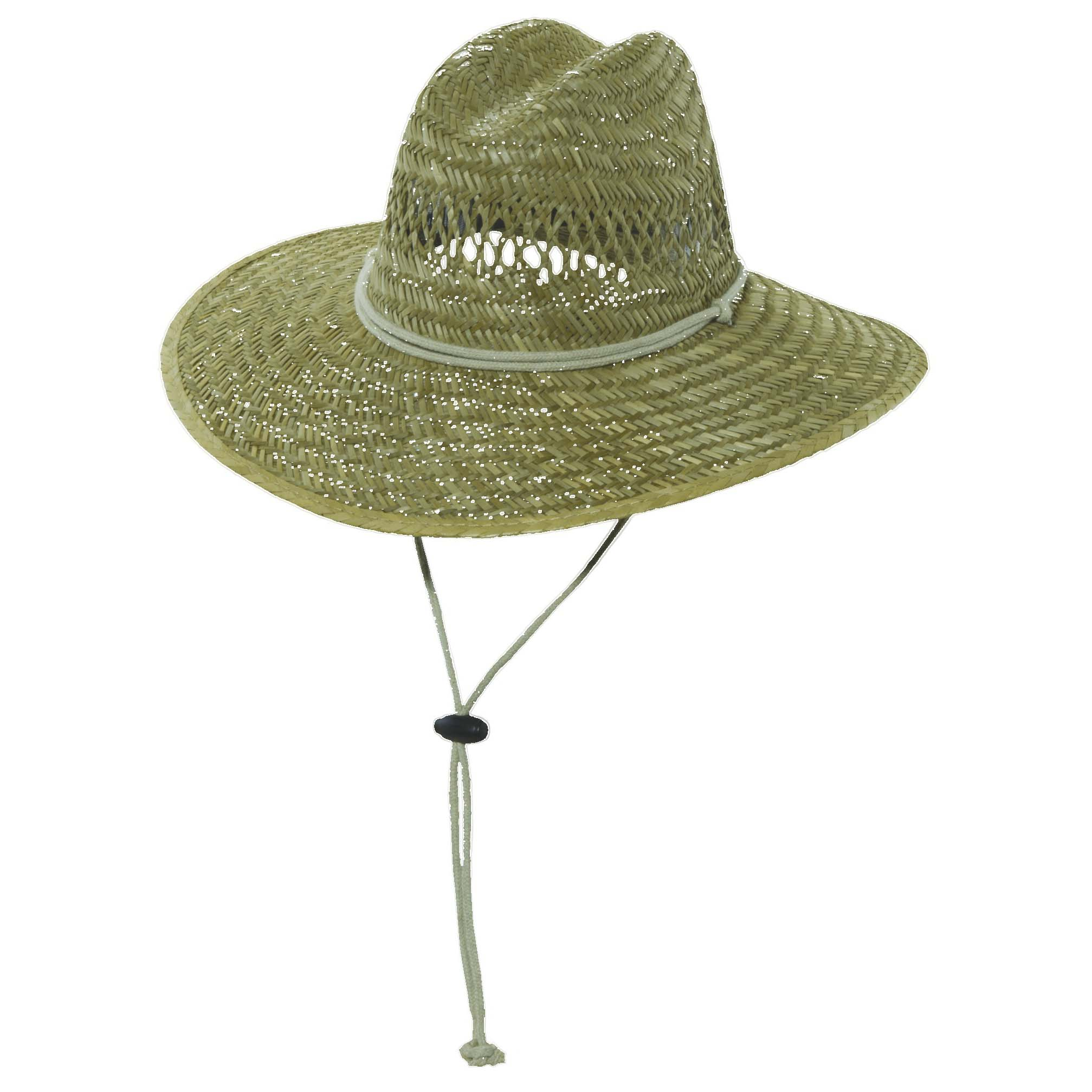 6053a0eaa84 Rush Straw Lifeguard Hat with Chin Cord Taupe