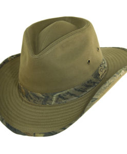 Mossy Oak Outback Hat Bark wtih Camo Trim