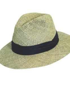 Black Twisted Seagrass Safari Hat
