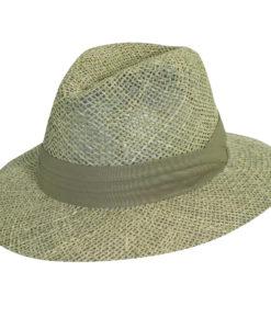 Khaki Twisted Seagrass Safari Hat
