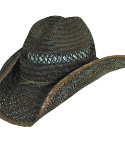 Rush Straw Western Hat with Barbed Wire Trim