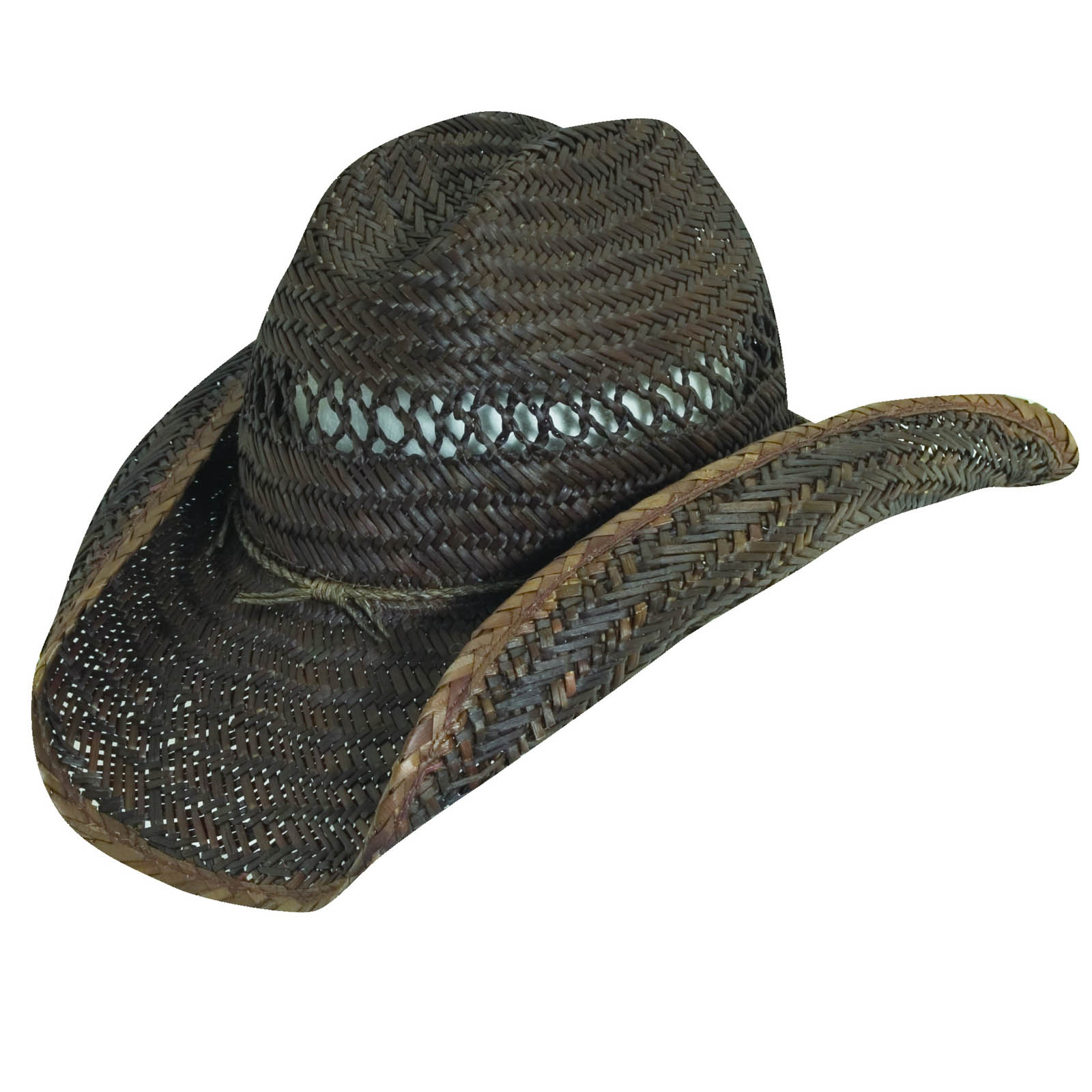 b3c412065b Rush Straw Western Hat with Barbed Wire Trim