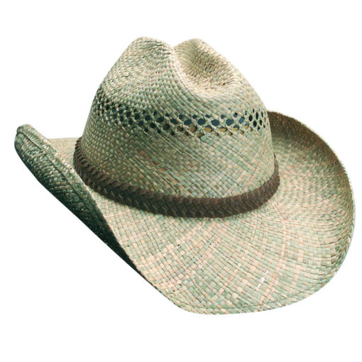 Seagrass Western Hat with Braided Trim Natural