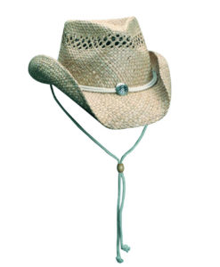 Seagrass Outback hat with Concho Natural