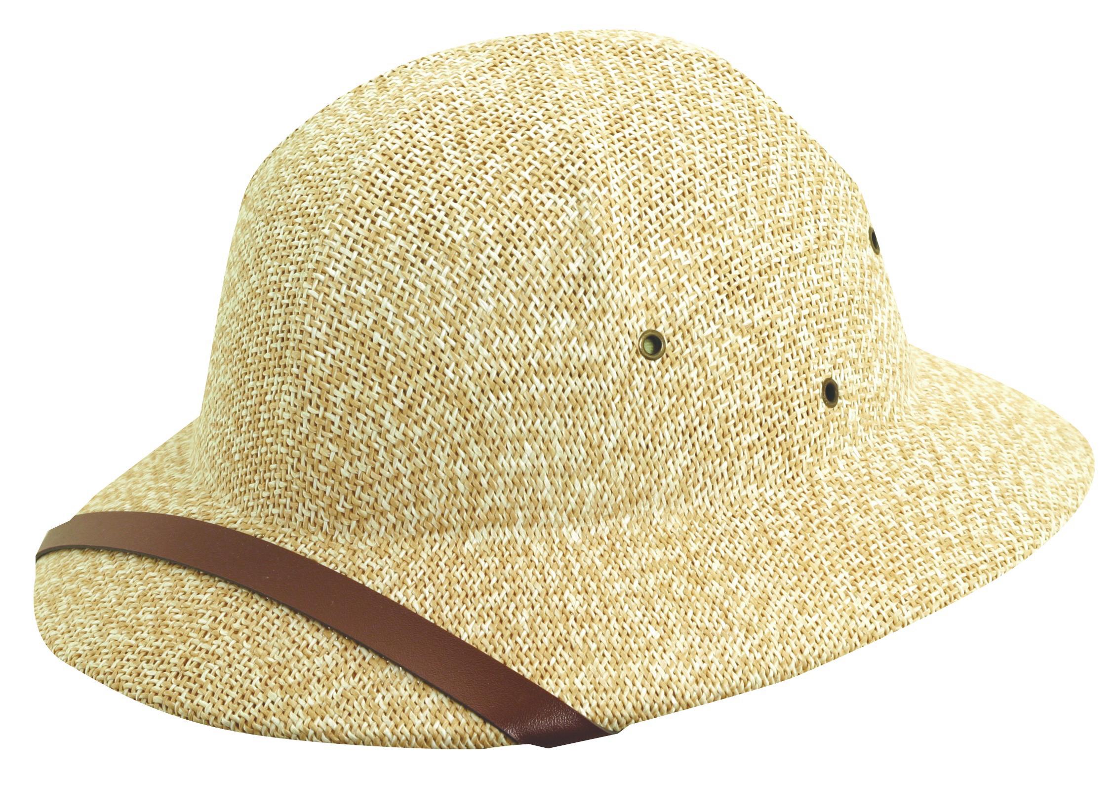 Tan-White DPC Twisted Fine Toyo Pith Helmet f0db4e13f99