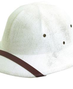 White DPC Twisted Fine Toyo Pith Helmet