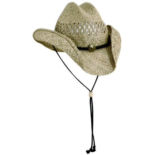 Seagrass Western Hat with Cattle Concho