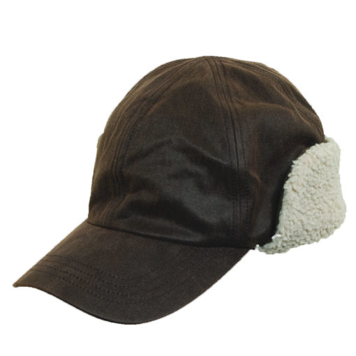 Weathered Cotton Winter Cap with Earflaps
