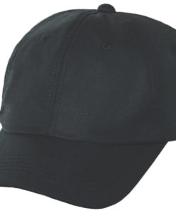 Black Oil Cloth Ball Cap