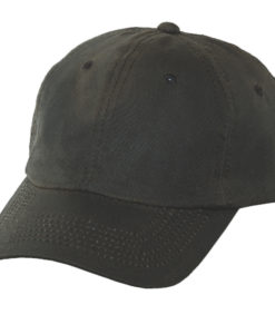 Brown Oil Cloth Ball Cap