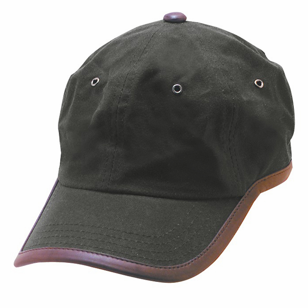 Oil Cloth Ball Cap With Leather Trim Explorer Hats