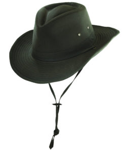Oil Cloth Outback Hat with Shapeable Brim Brown