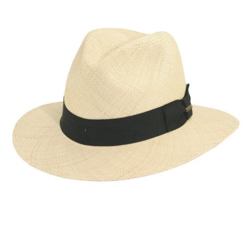 Panama Straw Safari Hat with Grosgrain Trim