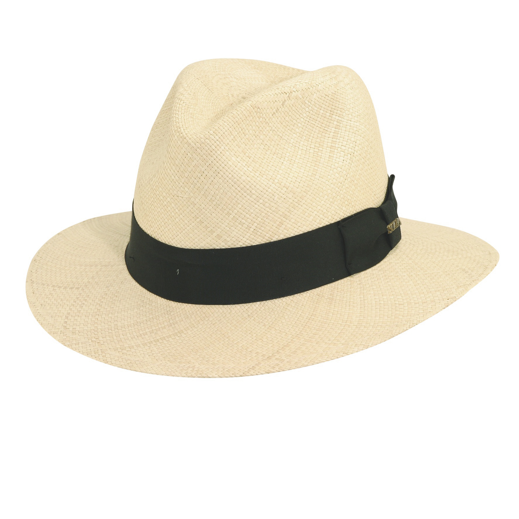 Panama Straw Safari Hat with Grosgrain Trim