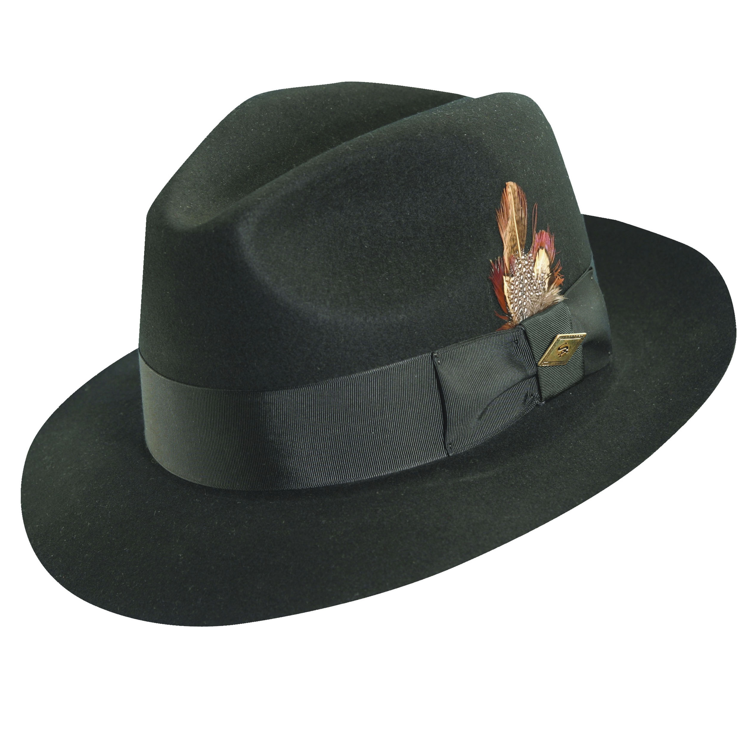 Stacy Adams Wool Felt Fedora Black 34e7713f3ed