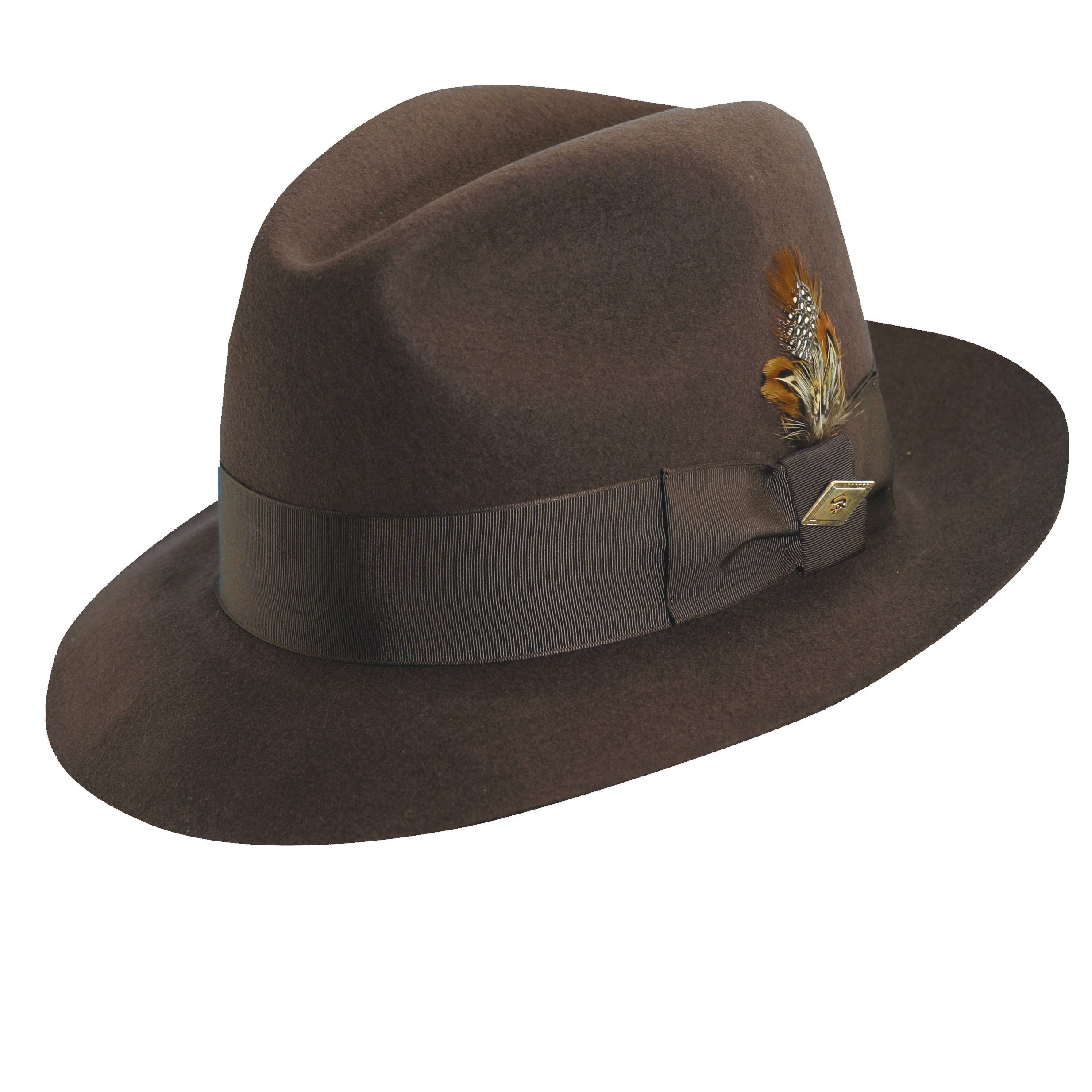 b40df71117d Stacy Adams Wool Felt Fedora Brown